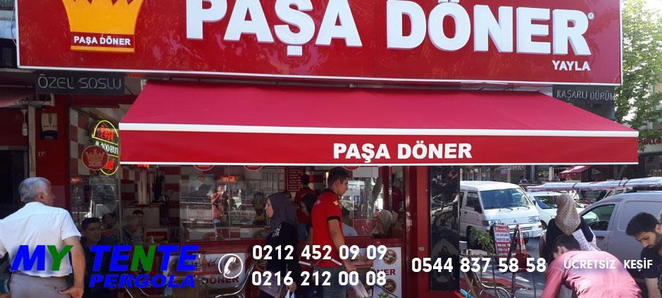 Mafsallı Tente Kırmızı Paşa Döner Lokanta Örneği